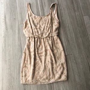 Alice + Olivia Sequin beige dress